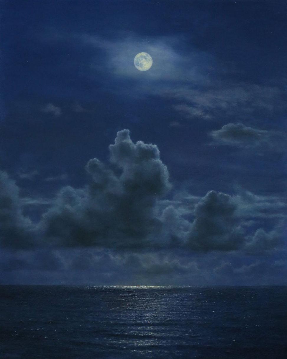 橋本直行|長岡市寺泊の画家|月の海