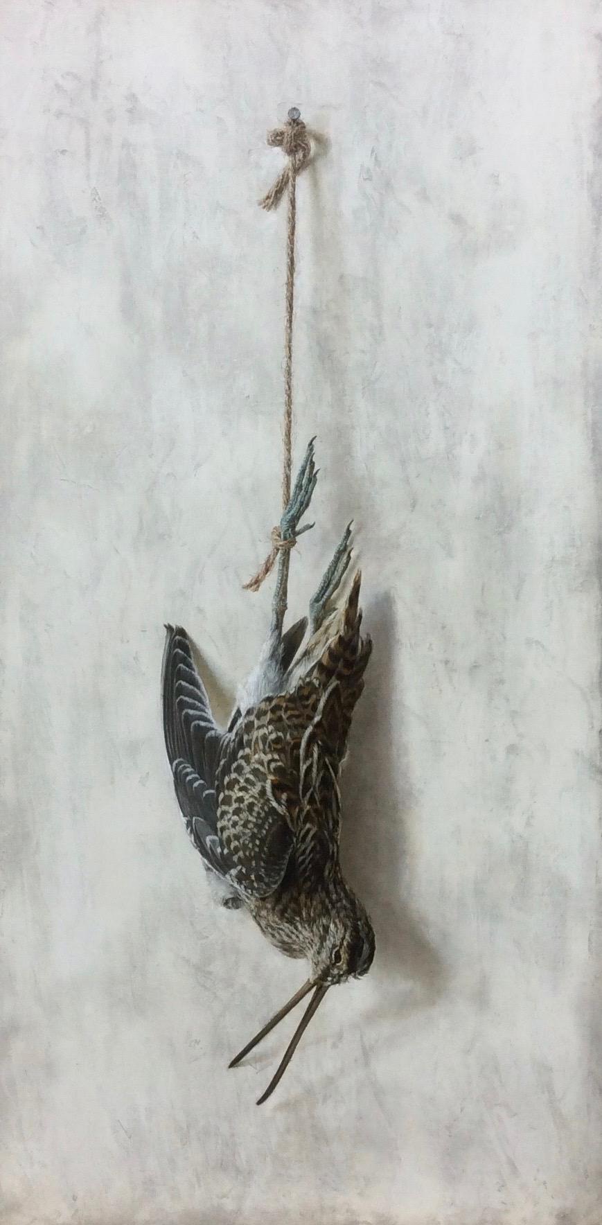 新潟の画家 橋本直行 吊るされたシギ