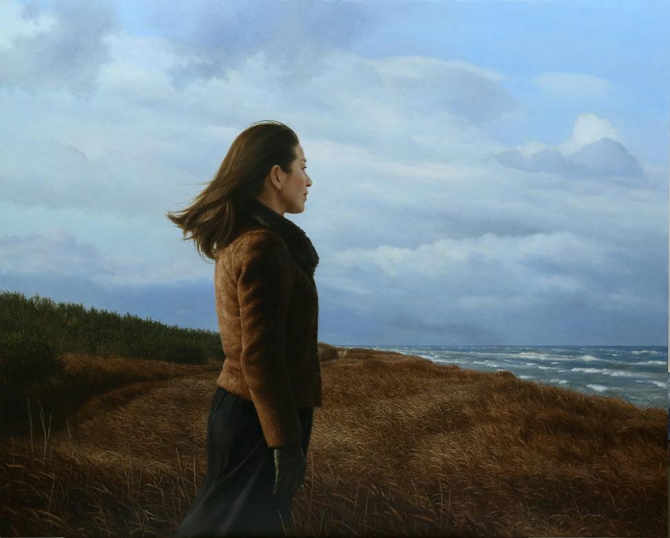 新潟の画家|橋本直行|風に立つ