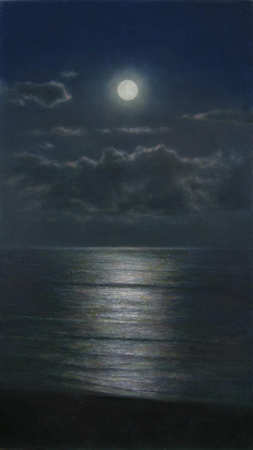 橋本直行 長岡市寺泊の画家 月の海