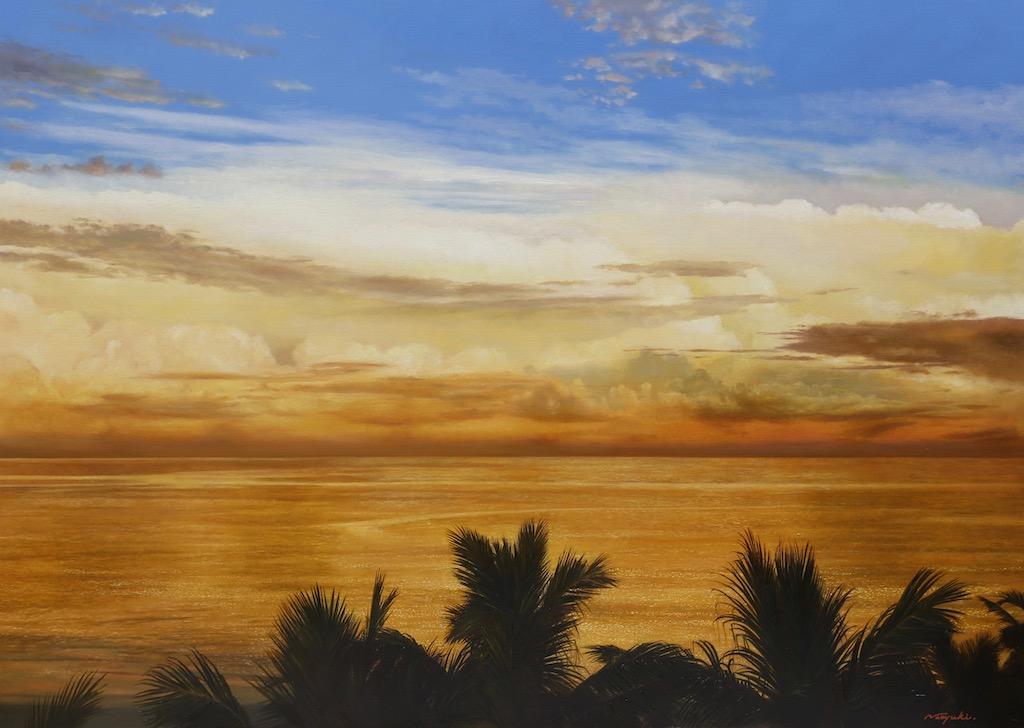 南洋の朝|新潟の画家|橋本直行