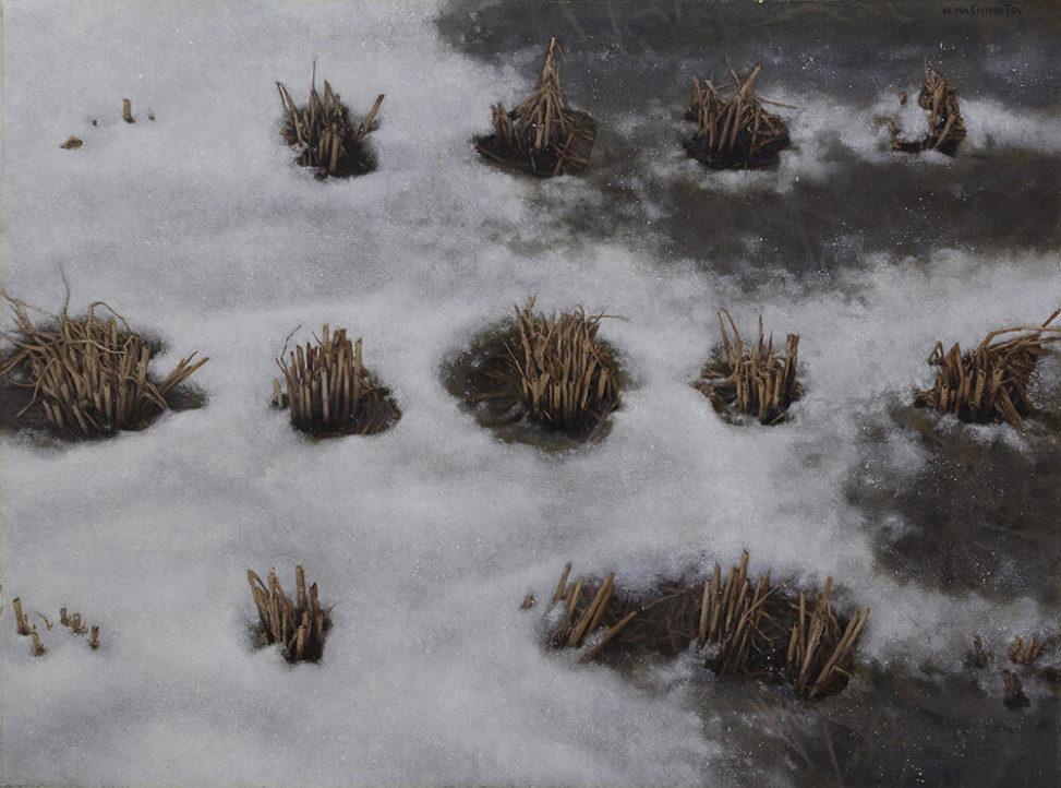 雪溶け|新潟の冬|画家 橋本直行