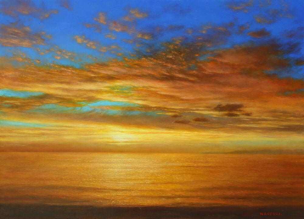 「夕陽」|日本海|新潟の画家橋本 直行